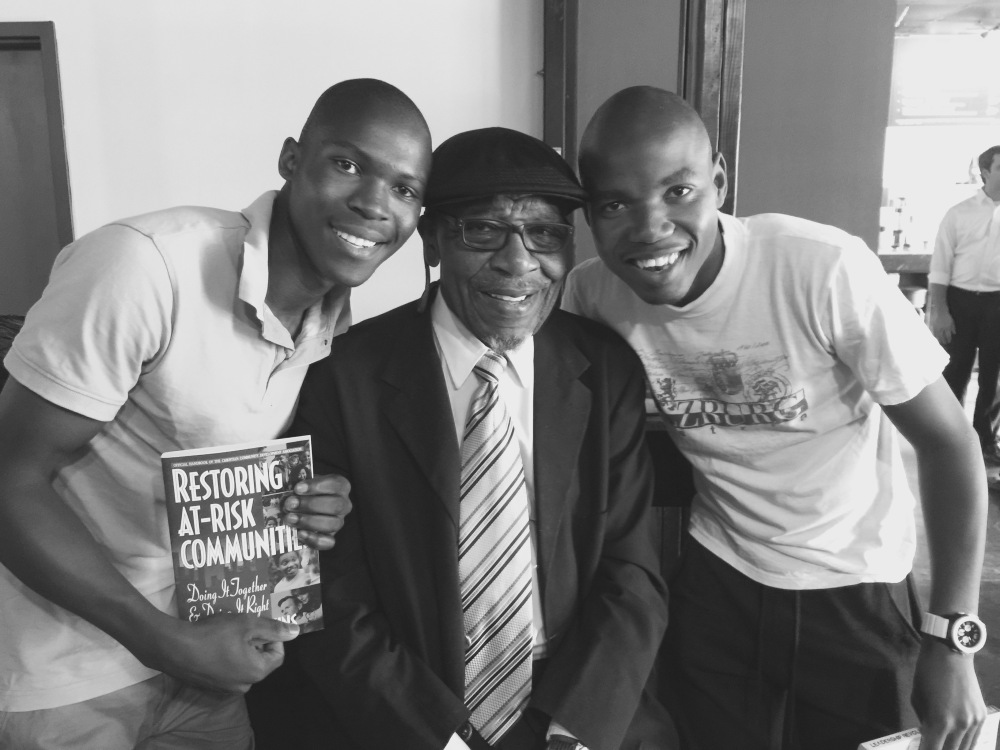 With Dr. John Perkins, civil rights activist and #PlaceOKC Conference keynote speaker.